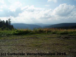 Zicht vanaf de Hochheide Hütte